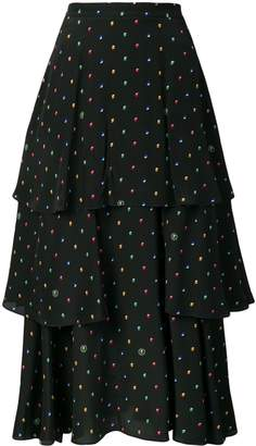 Stella McCartney Printed Ruffled Skirt
