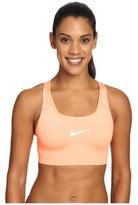 Nike Womens Pro Classic Swoosh Compression Graphic Sports Bra Peach/Orange (X-Small)