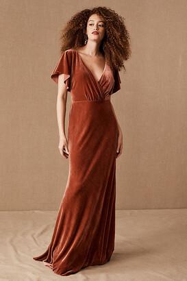 Jenny Yoo Ellis Velvet Dress By in Pink Size Us 20/uk 24