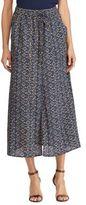 Lauren Ralph Lauren Crepe de Chine Cargo Maxi Skirt