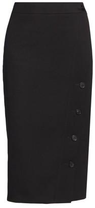 Balenciaga Buttoned Side Slit Pencil Skirt