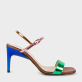 Paul Smith Women's Colour-Block Leather 'Nyla' Heeled Sandals