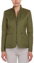 Anne Klein Women's Quilted Zip Front Jacket
