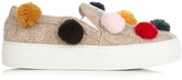 Joshua Sanders Pompom-embellished knitted slip-on trainers