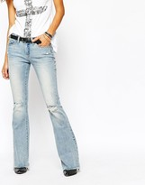 Blank NYC Flared Jeans With Raw Hem And Distressing