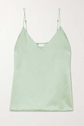 Anine Bing Gwyneth Silk-satin Camisole - Green