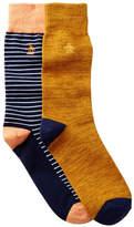 Original Penguin Balboa & Atrium Crew Socks - Pack of 2