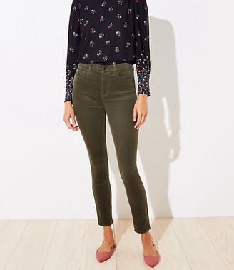 LOFT High Waist Corduroy Skinny Pants