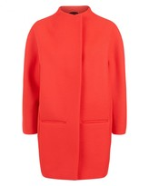 Jaeger Wool Bright Pink Cocoon Coat