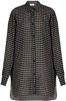 Raey Checked cotton and silk-blend oversized shirt