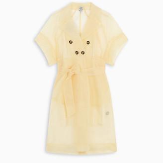 Baum und Pferdgarten Sheer tie waist shirt dress