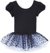Wenchoice Girls' Leotards - Black Heart Cap-Sleeve Tutu Dress - Infant, Toddler & Girls