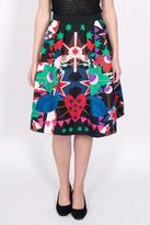 Maison Scotch Flaring Printed Skirt