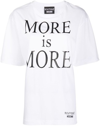 Boutique Moschino More Is More-print cotton T-shirt
