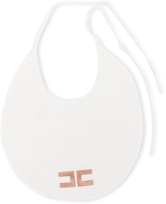 Elisabetta Franchi La Mia Bambina Logo Embroidered Bib