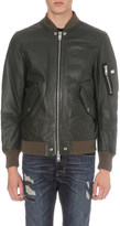 Diesel L-kit leather bomber jacket