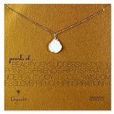 Dogeared 14 ct Gold Plated Pearls of Keishi Pearl Sterling Silver Necklace of Length 45.72 cm