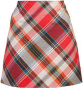 Trina Turk high-waisted checked mini skirt