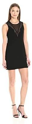 BCBGeneration womens GEF67K63 short Mesh Aline Dress sleeveless Dress, Black, 6 (Manufacturer Size: 38)