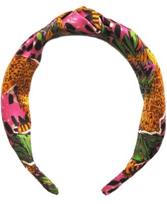 Jessica Russell Flint Hot Cheetah Silk Headband