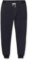 J.Crew Classic Slim-fit Tapered Mélange Cotton-blend Jersey Sweatpants - Navy