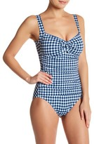 Tommy Bahama Gingham One-Piece Swimsuit