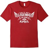 Legends Are Born In April T-Shirt Birthday Gift Shirt--