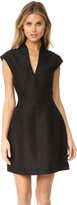Halston Cap Sleeve Structured Dress