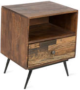 Wooden 1 Draw Bedside Table