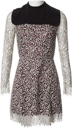 Carven Burgundy Cotton Dresses