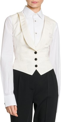 Dolce & Gabbana Stretch-Silk Button Vest