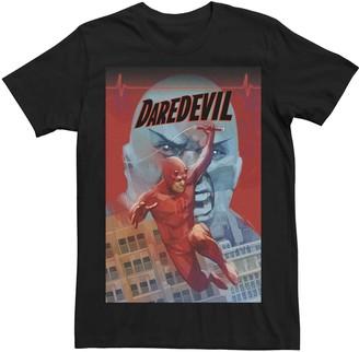 Marvel Men's Daredevil Kingpin Sketch Pastel Comic Cover Tee