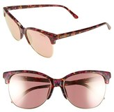 Smith Optics Women's 'Rebel' 57Mm Cat Eye Sunglasses - Flecked Blue Tortoise/ Blue