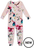 Ted Baker Girls' Pink Floral Print All-in-one