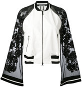 Aviu sheer sleeves bomber jacket