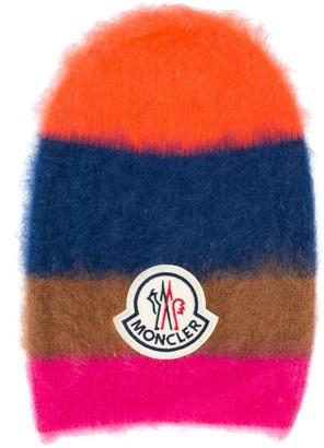 Moncler Mohair Blend Stripe Knit Hat