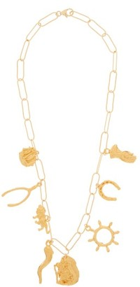 Alighieri The Traveller, In Pursuit Gold-plated Necklace - Gold