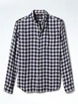Banana Republic Camden Standard-Fit Check Linen Shirt