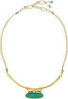 Nakamol Golden Turquoise Magnesite Pendant Necklace