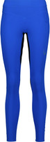 Lucas Hugh Mesh-paneled tech-jersey leggings