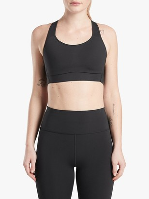 Athleta Hustle Supersonic B-DD Cup Sports Bra, Black