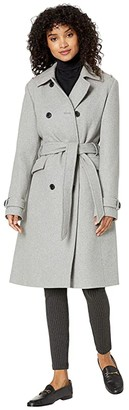Kate Spade Wool Trench (Heather Gray) Women's Clothing