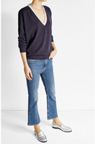 Brunello Cucinelli Embellished Pullover with Virgin Wool, Cashmere and Silk