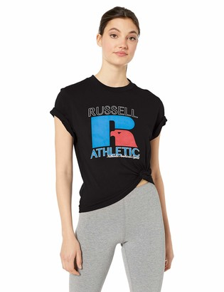 Russell Athletic Heritage Women's Mid-Crop Graphic T-Shirt