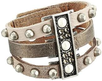 Leather Rock Tillie Bracelet