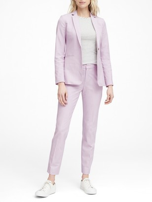 Banana Republic Long and Lean-Fit Birdseye Blazer