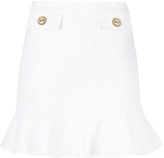Elisabetta Franchi Peplum-Hem Mini Skirt