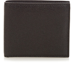 Valextra Grained-leather bi-fold wallet
