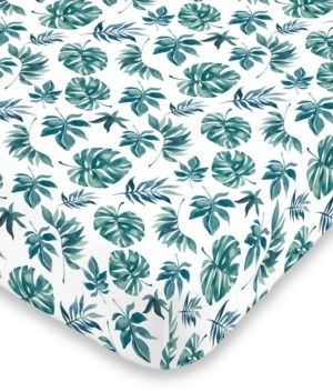 NoJo Palm Leaf Mini Crib Sheet Bedding