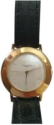 Patek Philippe Calatrava Black Yellow gold Watches